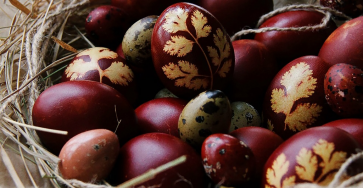 Крашеные яйца