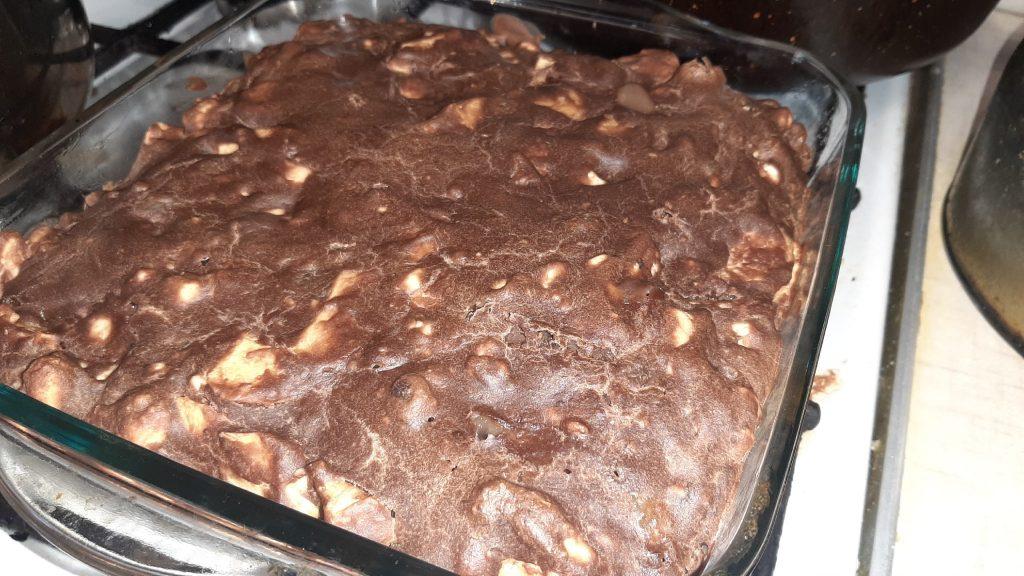 Печеный пирог из печенья