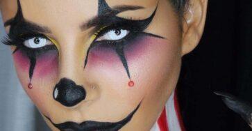 Краска для лица на хэллоуин
